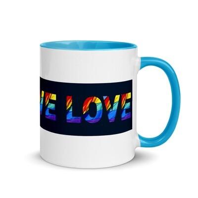 LGBTQ+ LOVE Positive Pride Mug with Color Inside