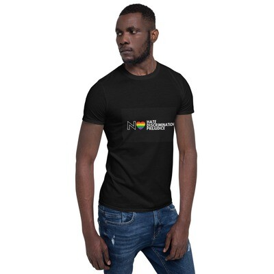 LGBTQ+ No Hate Positive Pride Short-Sleeve Unisex T-Shirt
