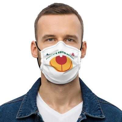 Zest For Life It's COVID Outside Rudolph Reuseable Facemask copy