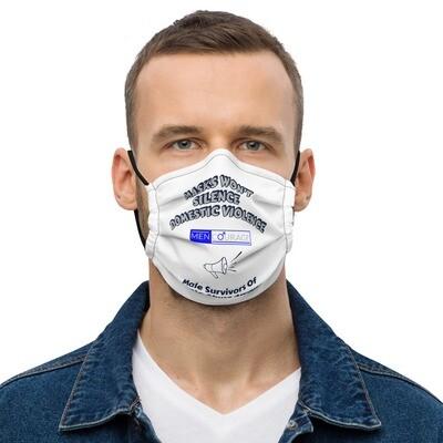 MenCourage Range - No Silence - Male Survivors Awareness Mask