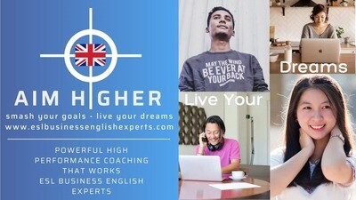 GROUP OF 4 STUDENTS x 8 60 Minute Zoom Advanced Standalone Business ESL Coaching Sessions - Mark