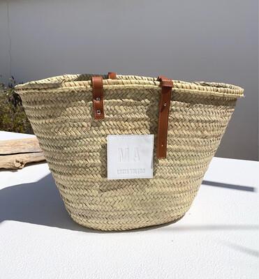 Large Monogram Basket