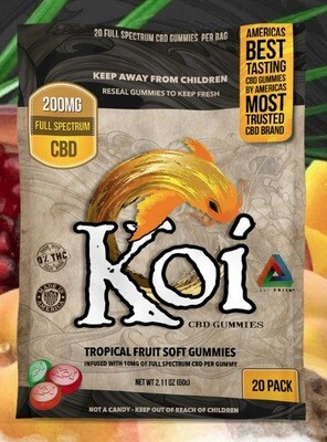 Koi Tropical Fruit Gummies 20pk