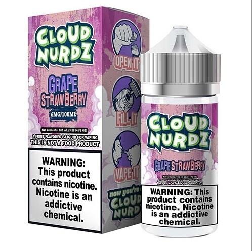 Cloud Nurdz Grape Strawberry 0mg