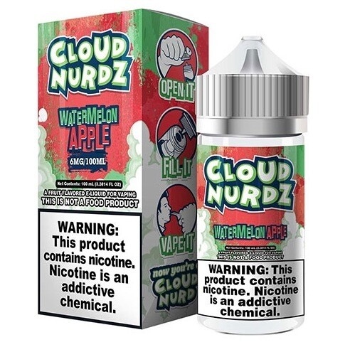 Cloud Nurdz Watermelon Apple 0mg