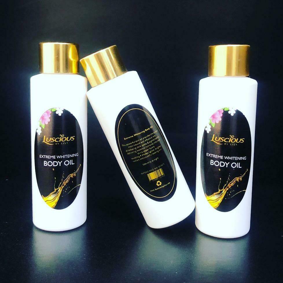 Extreme whitening body oil