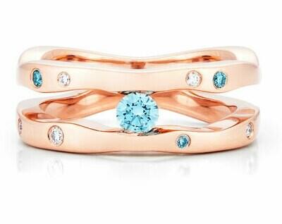 Seine-Rose Gold/Blue Diamonds