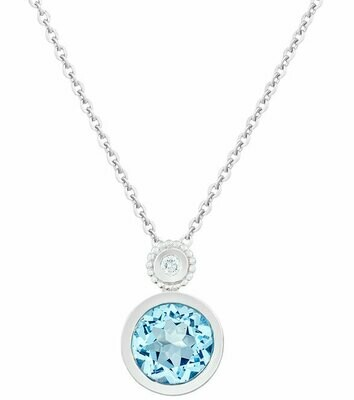 CC Tuileries©—Silver with Blue Topaz