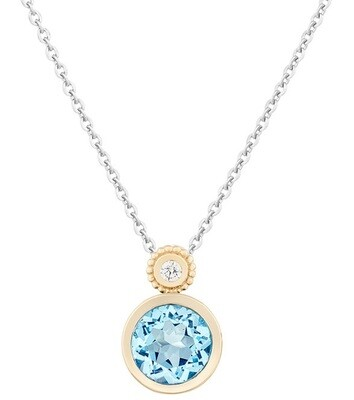 CC Tuileries©—Yellow Gold with Sky Blue Topaz