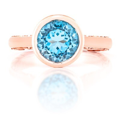 Tuileries—Rose Gold with Blue Topaz