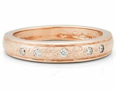 Bella Italia—Rose Gold/Diamonds-4mm
