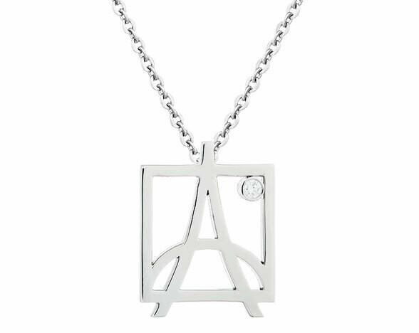 CC Skyline Pendant©—White Gold/Diamond