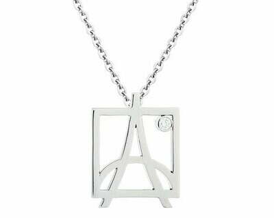 CC Skyline Pendant©—White Gold/Diamond