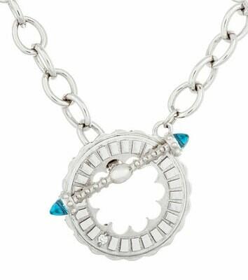 Sacré-Coeur—Silver & Blue Topaz Bracelet/Necklace