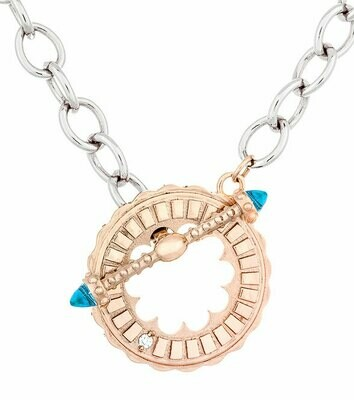 CC Sacré-Coeur©—Rose Gold & Blue Topaz Bracelet/Necklace