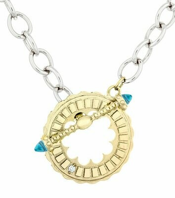 CC Sacré-Coeur©—Yellow Gold & Blue Topaz Bracelet/Necklace