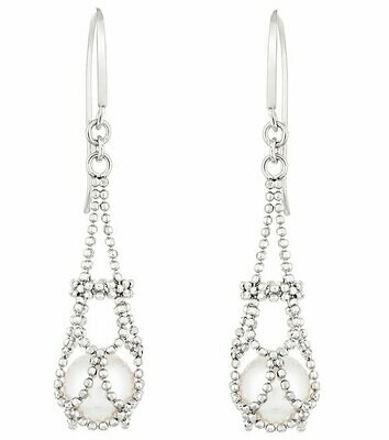 Imperial Lace Pearl Earrings