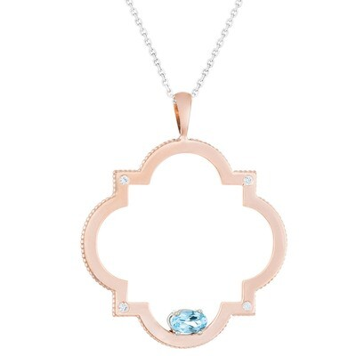 CC Trafalgar© - 14k Rose Gold with Topaz