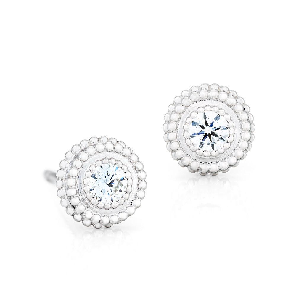 CC Petit Trésor Earrings©—White Gold w/ Diamonds