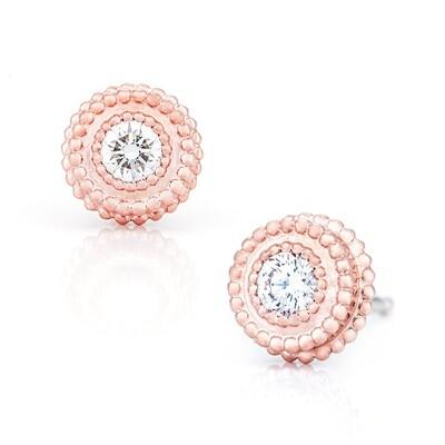 CC Petit Trésor© Earrings—Rose Gold w/ Diamond