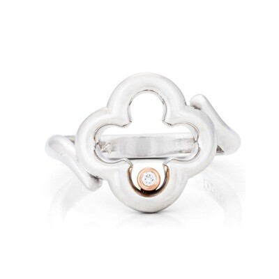 CC Dolce© Ring—White/Rose Gold