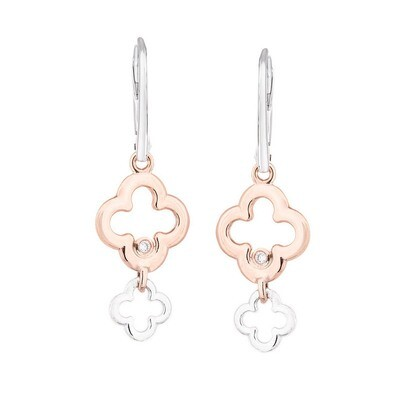 Dolce Earrings in Rose Gold & Sterling Silver
