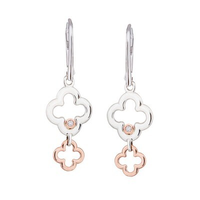 Dolce Earrings in Sterling Silver & Rose Gold