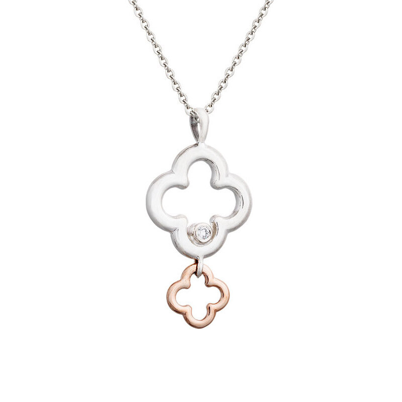 Dolce Pendant in Sterling Silver & Rose Gold