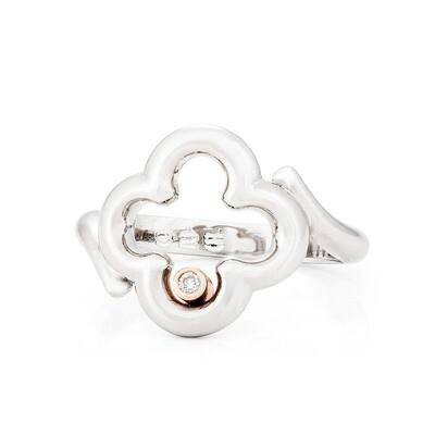 CC Dolce© Diamond Ring—Sliver/Rose Gold
