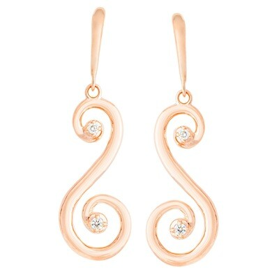 CC Barcelona Scroll©—Earring in Rose Gold