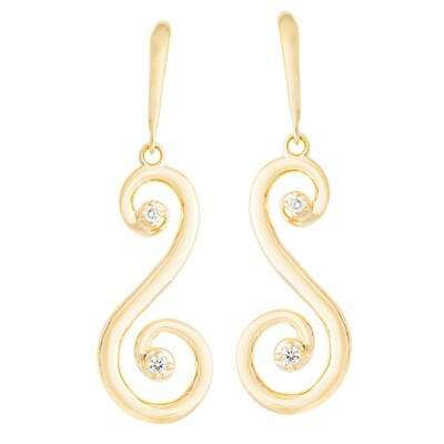 CC Barcelona Scroll©—Earring in Yellow Gold