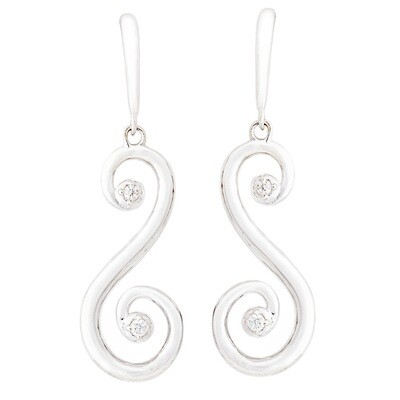 CC Barcelona Scroll©—Earring in Silver