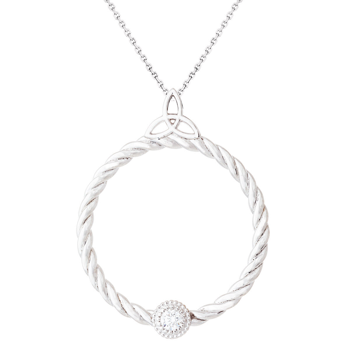 CC Celtic Braid©—Silver w/ Diamond