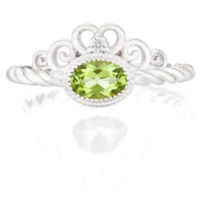 CC Galway Ring—White Gold with Peridot