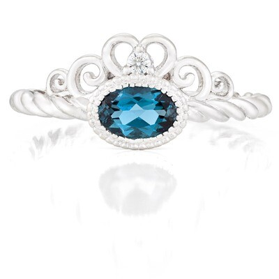CC Galway Ring—White Gold with London Blue Topaz