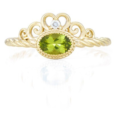 CC Galway Ring—Yellow Gold with Peridot
