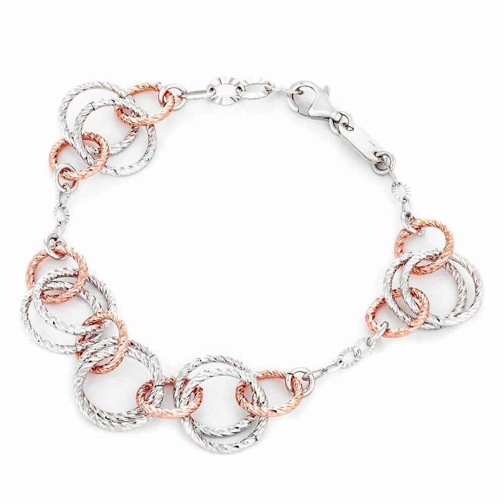 Circle Two-Tone Bracelet
