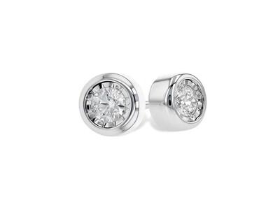 Diamond Bezel Stud Earrings