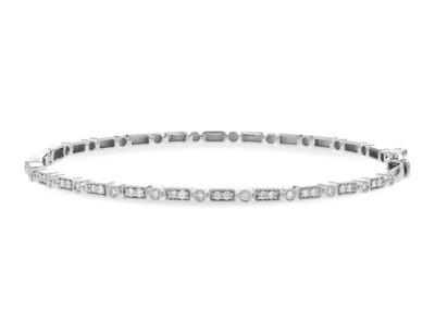 Stunning Oval Diamond Bangle