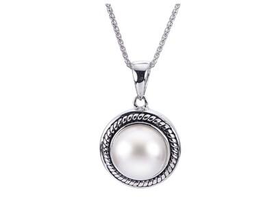 Button Pearl Pendant