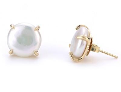 Freshwater Coin Pearl Earrings