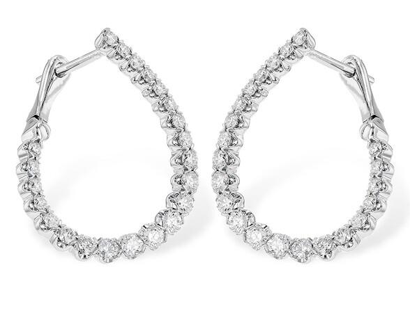 Front Facing Diamond Earrings
