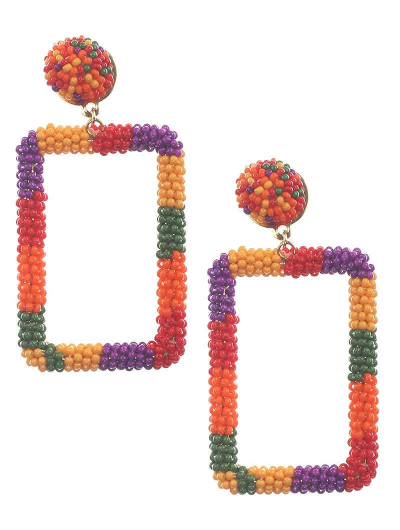 Beaded Colorful Earrings