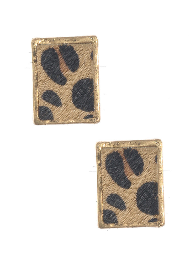 Glam Animal Print Earrings