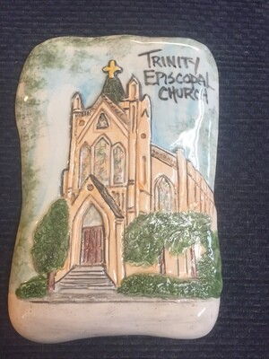 Trinity Church Ceramic Plaque by Jenise