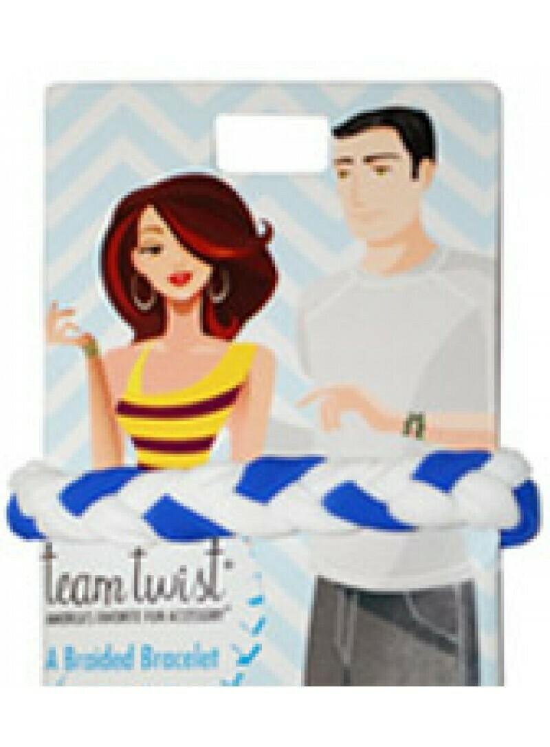 Pomchies Blue and White Bracelet/Hair Tie