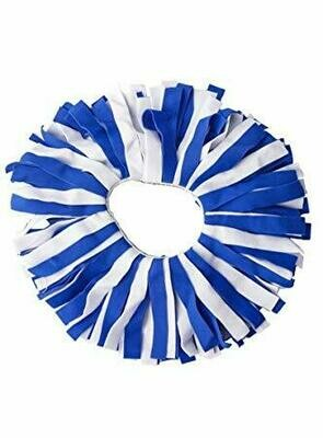 Pomchies Blue and White Scrunchie