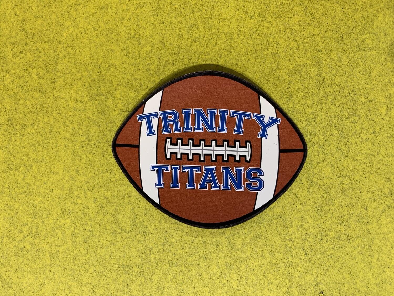 Trinity Titans Football Car Magnet