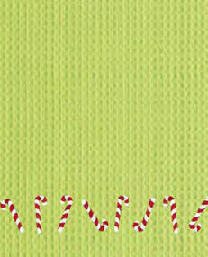 Candy Cane Kitchen Towel (Green)