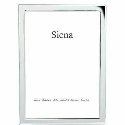 Silver Plated Narrow Border Frame 4x6